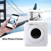 Портативный принтер с Bluetooth 58 мм Мини термальный фотопринтер для мобильного телефона Карманный принтер для iOS Android Windows 1000 mAh