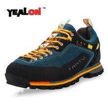 YEALON Hiking Shoes Waterproof Sneakers Men Shoes Outdoor Men Sports Waterproof Trekking Shoes Suede Mountain Shoes Men