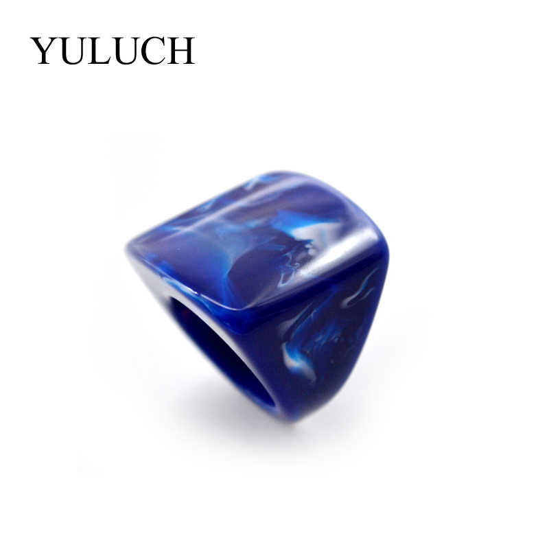 YULUCH 2017 Natural Stone Rings Beautiful Grain Women AND Men Rings Wood Rings Fashion Jewelry For Party Wedding Unique Design