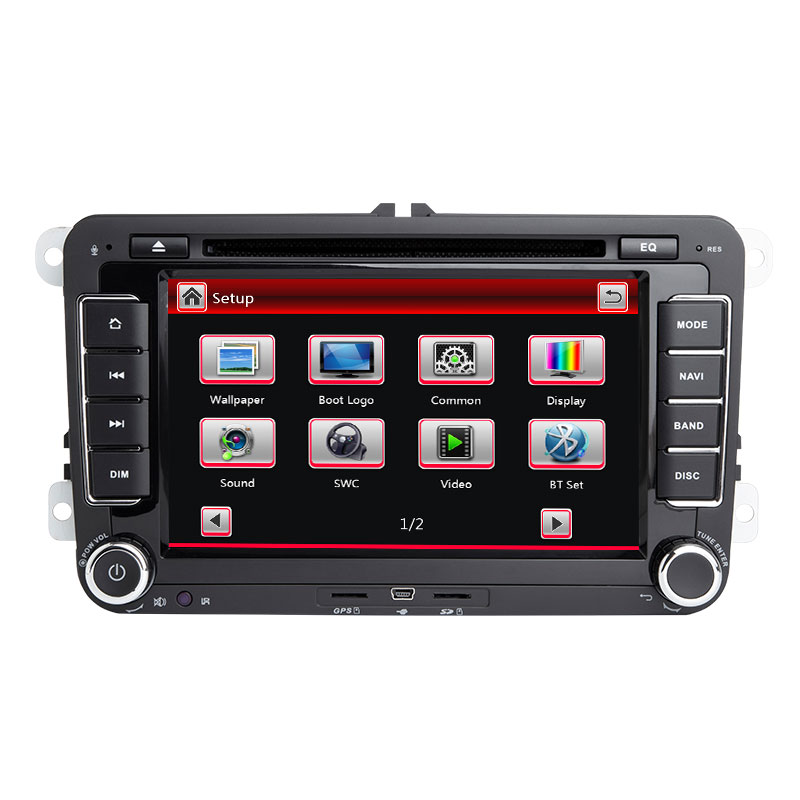 Autoradio 2 Din lecteur DVD de voiture GPS Navigation Radio pour Volkswagen Polo Golf 5 Touran Passat B6 b7 Tiguan Seat Leon