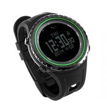 SUNROAD FR801B2 Waterproof Watch Men -Digital Watch Barometer Altimeter Compass Pedometer Green Men Clock