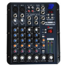 Freeboss SMR6 2 Mono + 2 stereo 6 channels 16 DSP USB professional dj mixer console