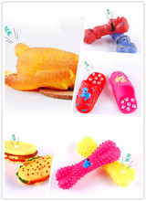 New Pet Toys Colorful Rubber Squeak Toys Various Shaped Sounding Toy Dog Toys