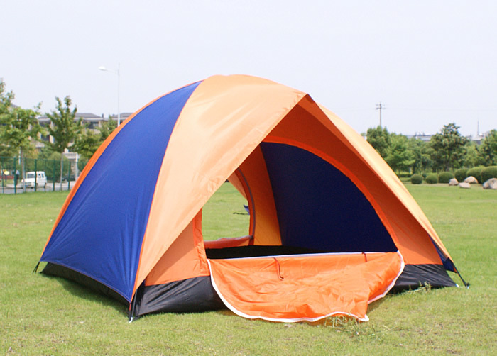 Outdoor Camping Tent Four People Two-Door Double Tents Waterproof Travel Camping Tents Sy005-2 2 people portable parachute hammock outdoor survival camping hammocks garden leisure travel double hanging swing 2 6m 1 4m 3m 2m