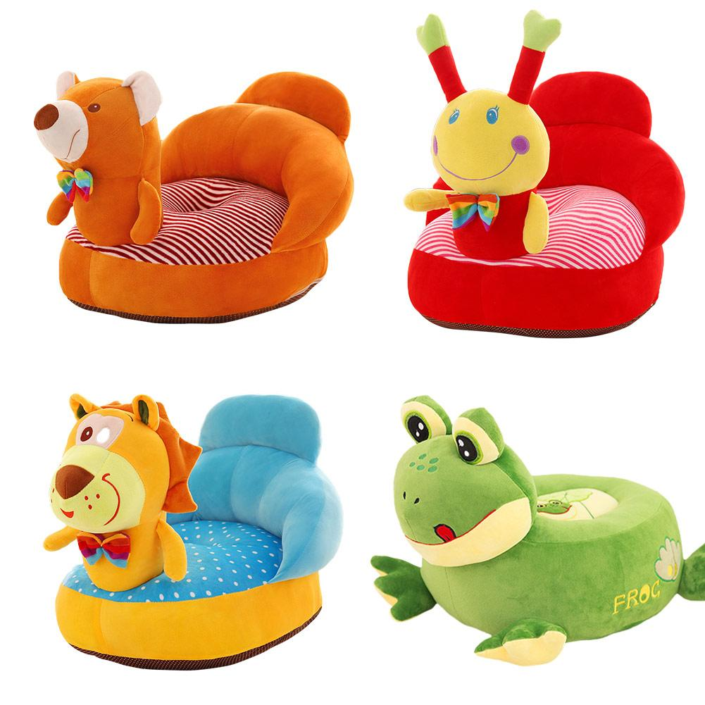 Baby's Cute Cartoon Removable & Washable Mini Sofa Seat Safety Travel Car Pillow Plush Legs Feeding Chair Baby Seats Sofa creative baby seats sofa plush support seat small bench plush chair newborn feeding chair anti fall