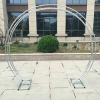 wedding metal flower Round Arch Party Decoration 2.3m Tall*2.6m Wide road leads Flower backdrop frame