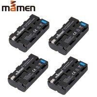 Mamen 4 sztuk NP F550 NP F550 F570 NPF550 NP F570 aparat cyfrowy zestaw baterii do Sony F330 F530 RV100 RV200 CCD SC5 SC55 baterie w Baterie cyfrowe od Elektronika użytkowa na