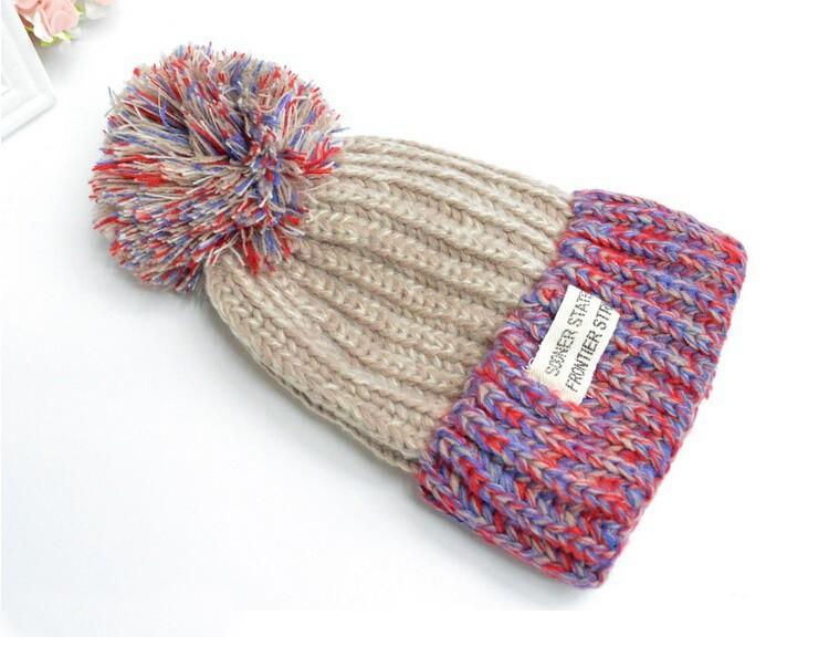 2015 moda sombreros para para Beanie invierno sombrero hecho punto ...