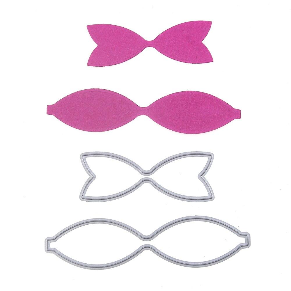 bow tie pattern metal cutting dies stencil scrapbook album