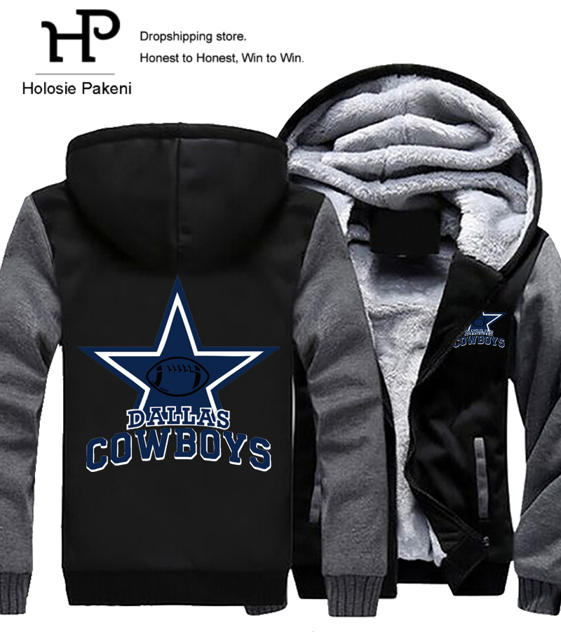 Дропшиппинг Для мужчин Для женщин Стилерс Бронкос Cowboys Толстовки Кофты на молнии куртка с принтом зимние Утепленные Пальто с капюшоном