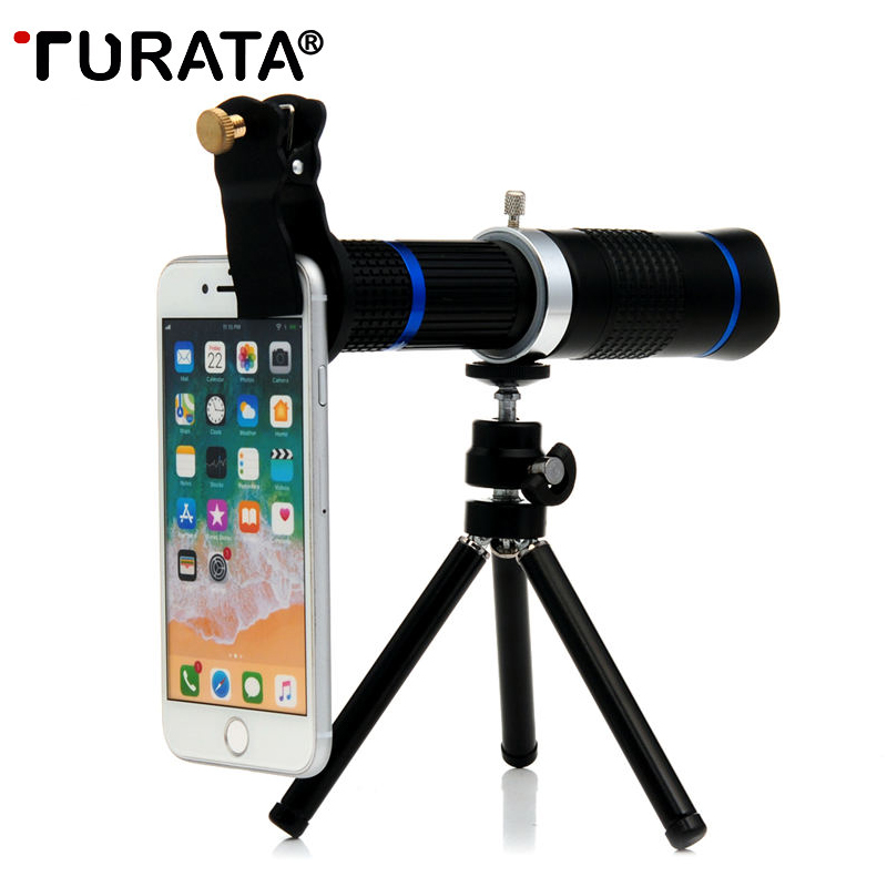 US $26 69 30% OFF|TURATA 26x HD Zoom Mobile Phone Telescope Lens Telephoto  External Smartphone Camera Lenses For IPhone Sumsung huawei phones-in