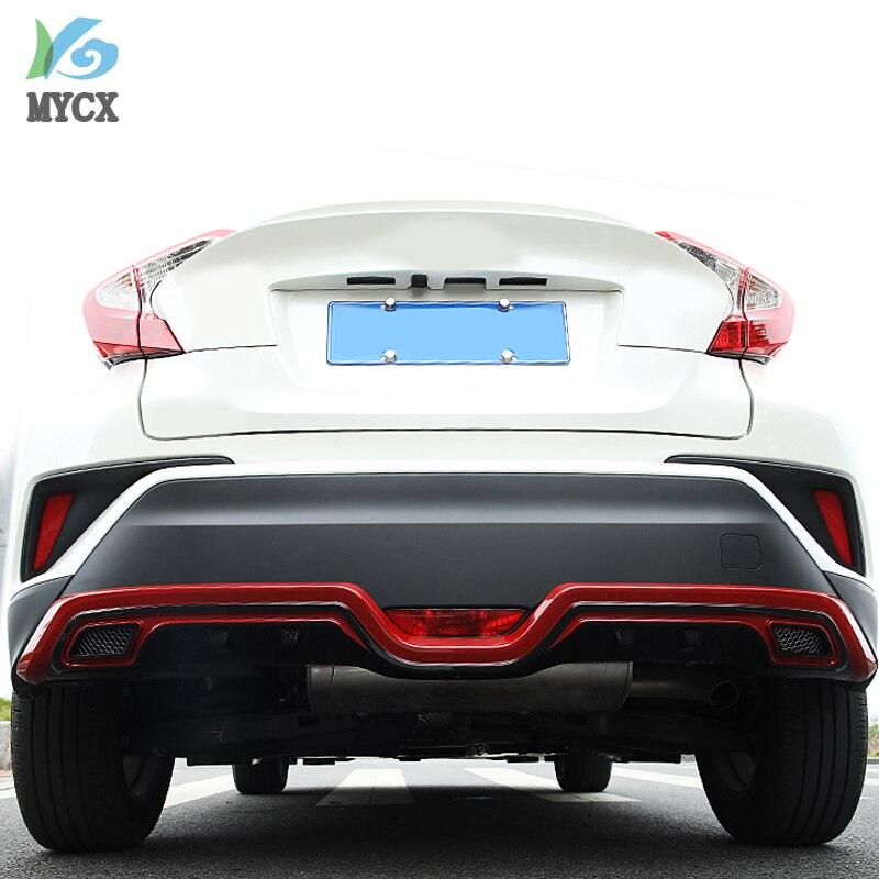 Pour TOYOTA C HR CHR C HR 2016 2017 2018 2019 pare chocs arrière diffuseur garde plaque de protection haute qualité voiture Modification accessoires - 3