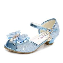 SKHEK Girls Sandals Kids Shoes For Girls Dress Shoes Little High Heel Glitter Summer Princess Party Wedding Sandal Children Shoe 2018 toddler girls princess crystal rhinestone sandals little kid glitter sequin pumps big children pageant dancing dress shoes