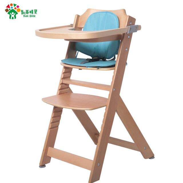 Gatito de hadas bebé ajustable madera maciza silla de comedor silla ...