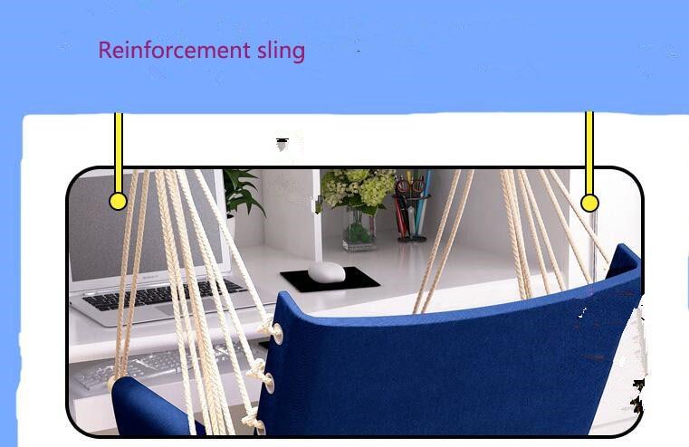 Купить с кэшбэком Garden Patio Porch Hanging Cotton Rope Swing Chair Seat Hammock Swinging Wood Outdoor Indoor Swing Seat Chair Hot Sale