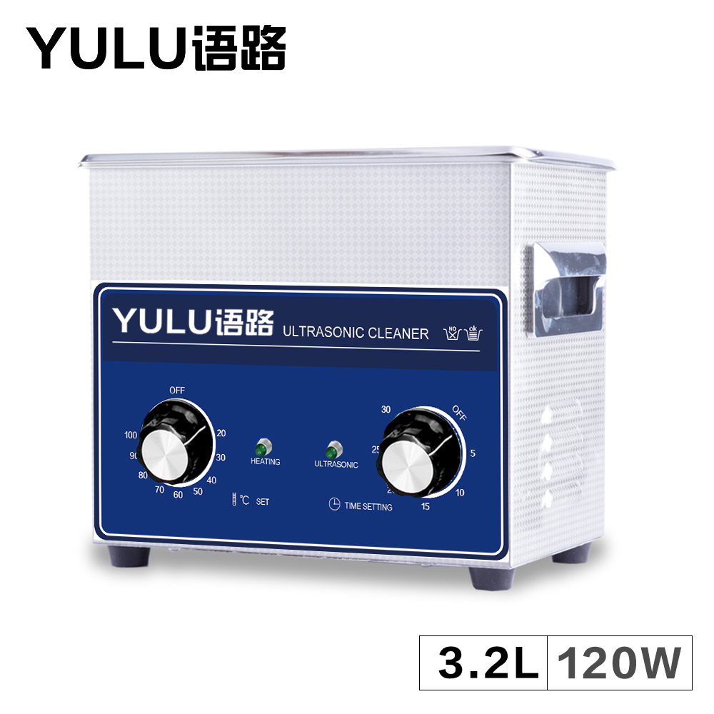 YL-020 Mechanical Ultrasonic Cleaner 3.2L Bath Jewelry Lab Beaker Equipment Fruit Bath Temperature Time Setting Metal Mold Tank the original 2mbi200l 060 code package machine disassemble