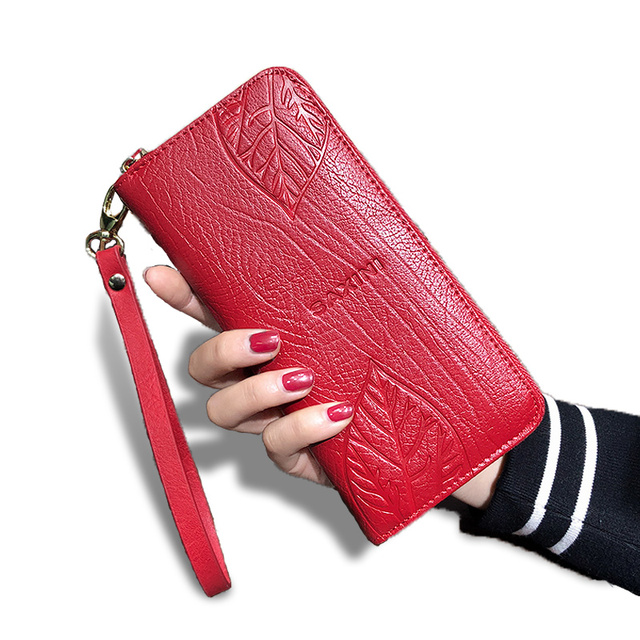 Women's Multicolor and Multipattern Leather Zipper Wallet