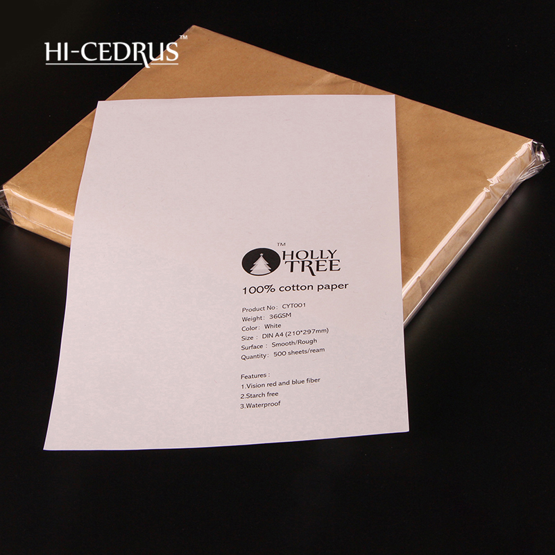 36g Perfect quality 210*297mm A4 stationery paper 100% cotton with color fiber CYT001 inkjet laser printing white 85g 210 297mm a4 colored fiber letter stationery 75
