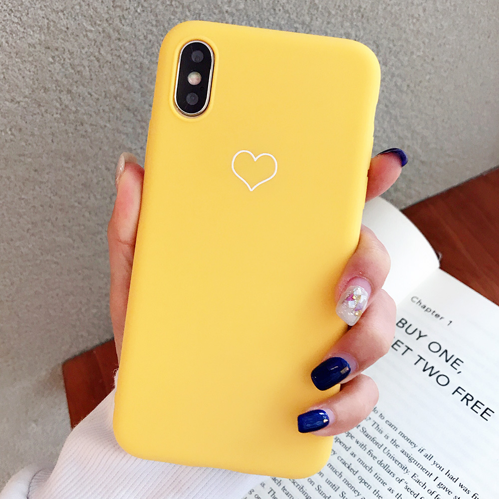 KIPX1091Y_1_JONSNOW Phone Case For iPhone XS XR XS Max  6S 7 8 Plus Couples Style Love Heart Pattern Soft Silicone Case Capa Fundas