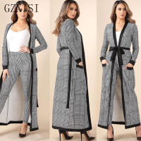 Autumn 2 piece set women clothes roupas feminina 3 piece cardigan jacket and full length trousers pants camisole coat