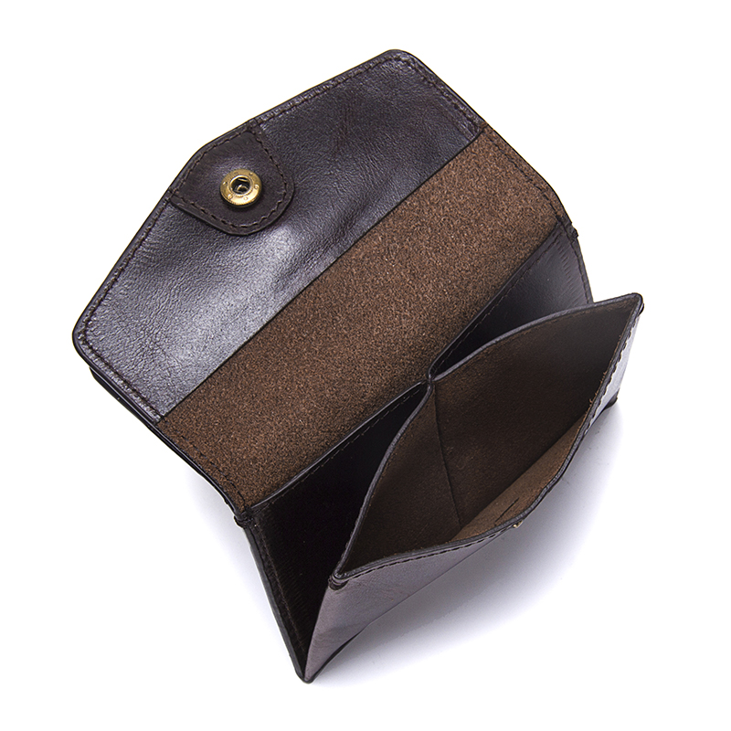 CONTACTS Men wallet Genuine Leather Small Coin Purse Women Mini Coins Bags Slim Wallet coin purse Credit & ID Card Holder New