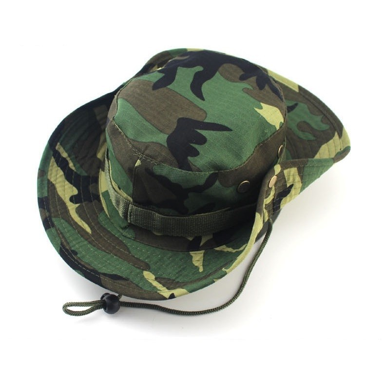 Classic US Combat Army Style Gi Boonie Bush Jungle Hat Sun Fishing Cap Men Women's Cotton Ripstop Camouflage Military Bucket Hat 4