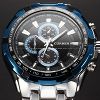 2016 Mens Watches Top Brand Luxury Men Military Wrist Watches Full Stainless Steel Men Quartz Watch