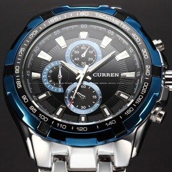 2016 męskie zegarki Top marka luksusowe mężczyźni wojskowe na rękę zegarki pełne mężczyzn ze stali nierdzewnej zegarek kwarcowy wodoodporny Relogio Masculino