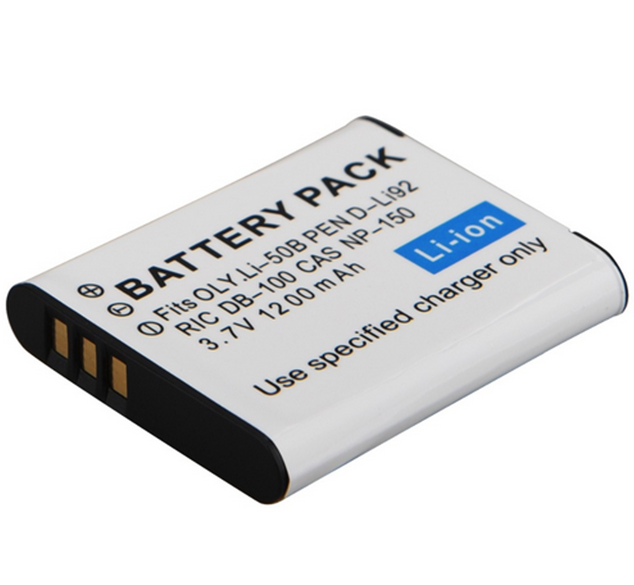 Перезаряжаемый литий-ионный аккумулятор для аккумулятора для Pentax D-LI92 и Ricoh D-LI92, DLI92, D-L192