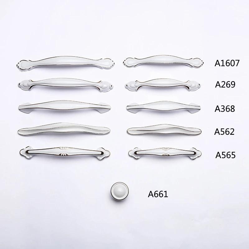 Hardware Ivory White Door Handle Knob Cabinet Drawer Wardrobe Furniture Hardware