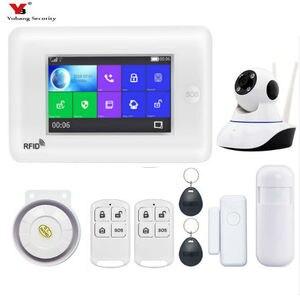"""Image 5 - Yobang Güvenlik 4.3 """"WiFi APP GSM Hırsız hırsız alarmı Wifi IP Kamera Koruma Ev Alarmı Güvenlik SMS Uyarısı SOS Panik alarm"""