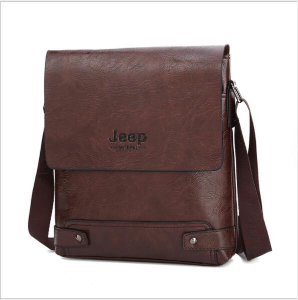 2019 New Jeep Men's Bag Business Bag Men's Shoulder Messenger Bag Jeep Leather Casual Bag