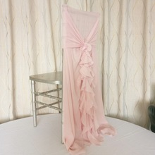 Hot sale  Marious curly willow chair sash blush pink 50pcs Chiffon for Weddings Events Decoration FREE SHIPPING