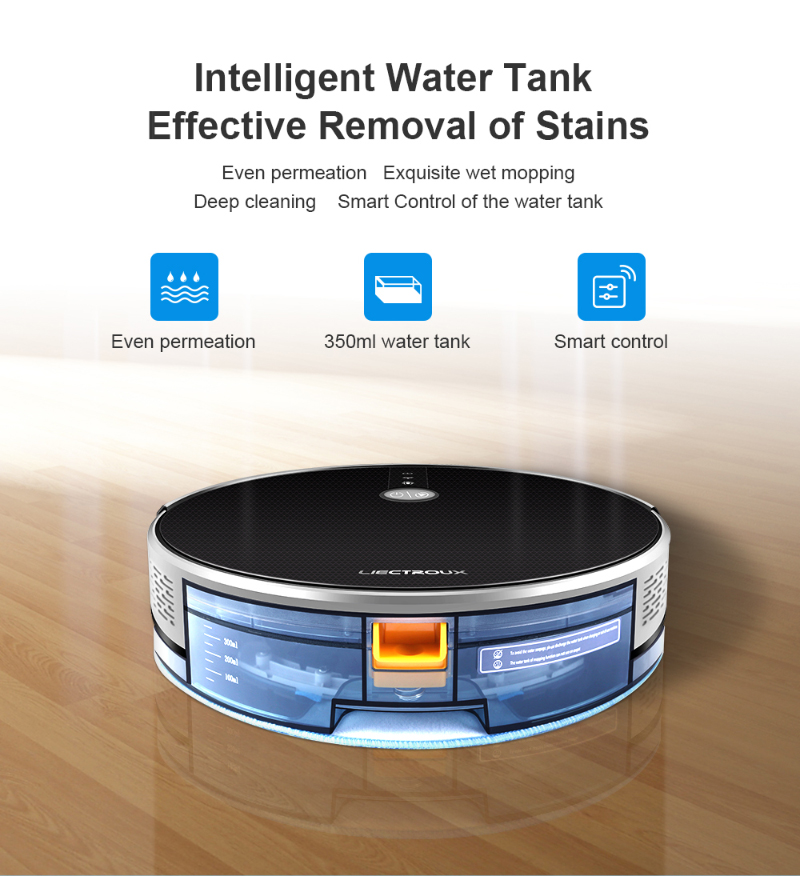 HTB12 eGaELrK1Rjy0Fjq6zYXFXac LIECTROUX C30B Robot Vacuum Cleaner,Map navigation,3000Pa Suction, ,Smart Memory, Map Display on Wifi APP, Electric Water tank