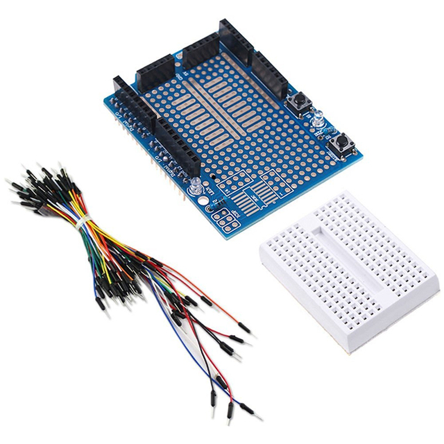 Prototyping Prototype Shield ProtoS + Mini Breadboard + 65pcs ...