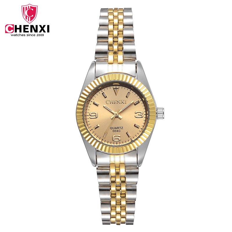 Dames imperméables Montre Bébé Horloge Mode Robes Pour Femmes Classique Montres À Quartz Or & Argent Acier Bracelets Montre-Bracelet