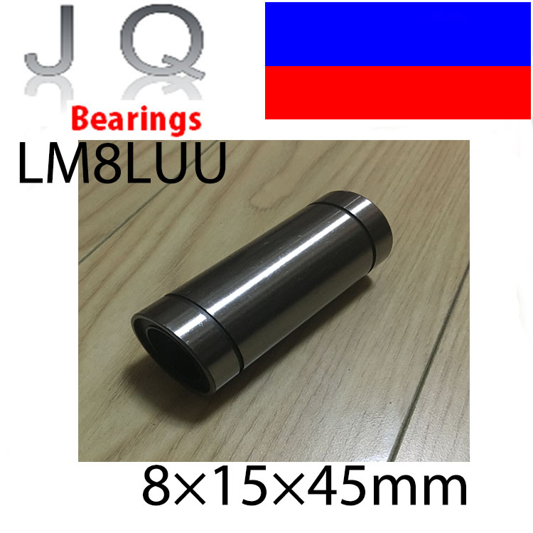 Free Shipping 10 pcs/lot LM8LUU 8mm Longer Linear Ball Bearing Bushing Linear Bearings CNC parts 3d printer parts LM8L free shipping lm50uu linear bushing 50mm cnc linear bearings