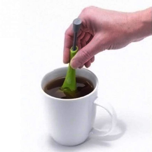Reusable Tea Infuser Strainer Gadgets Plastic Built-in Plunger Healthy Intense Flavor Tea Bags Measure Swirl Steep Stir&Press 2