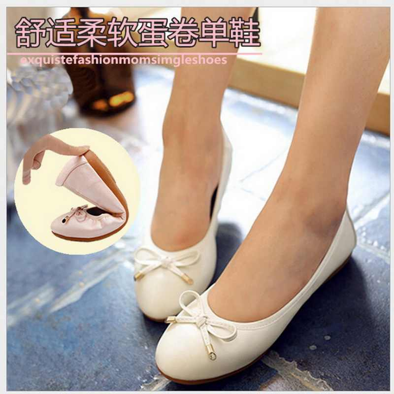 2018 popular mocassin femme comfortable career ladies flat shoes sweet ballerina flats footwear Very soft flat shoes women 34-45
