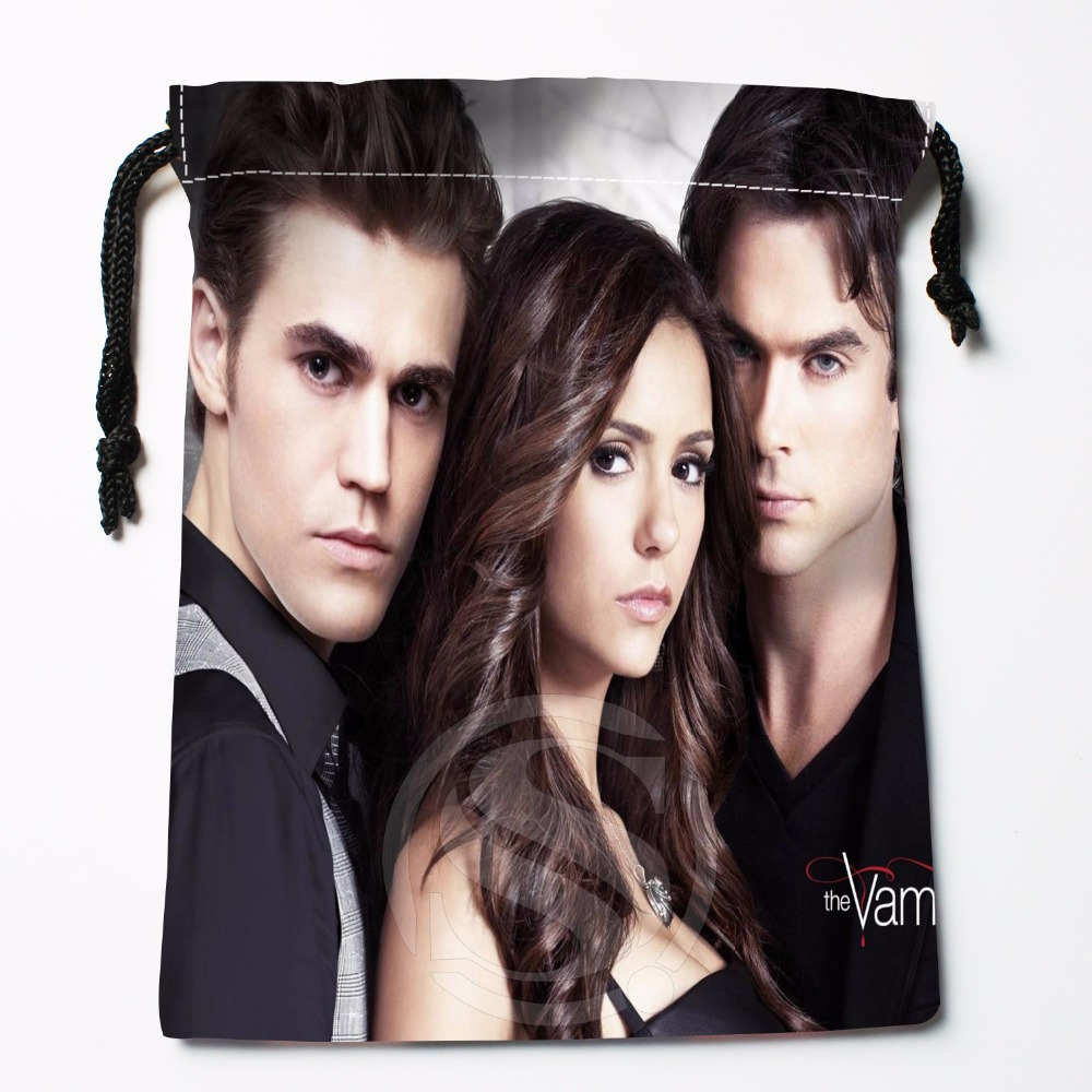 Fl-Q67 New The Vampire Diaries &5 Custom Logo Printed  Receive Bag  Bag Compression Type Drawstring Bags Size 18X22cm 711-#F67