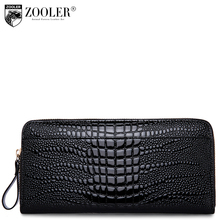 ZOOLER hot genuine leather wallets designed embossed 2017 stylish purse small wallet serpentine pattern coin long purses 8903