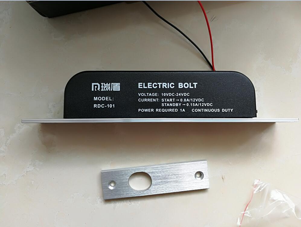 bilder für Niedrigen Temperatur timer Elektroriegel Türschloss 2 linie DC 12 V Induktion Auto elektronische türschloss access control system