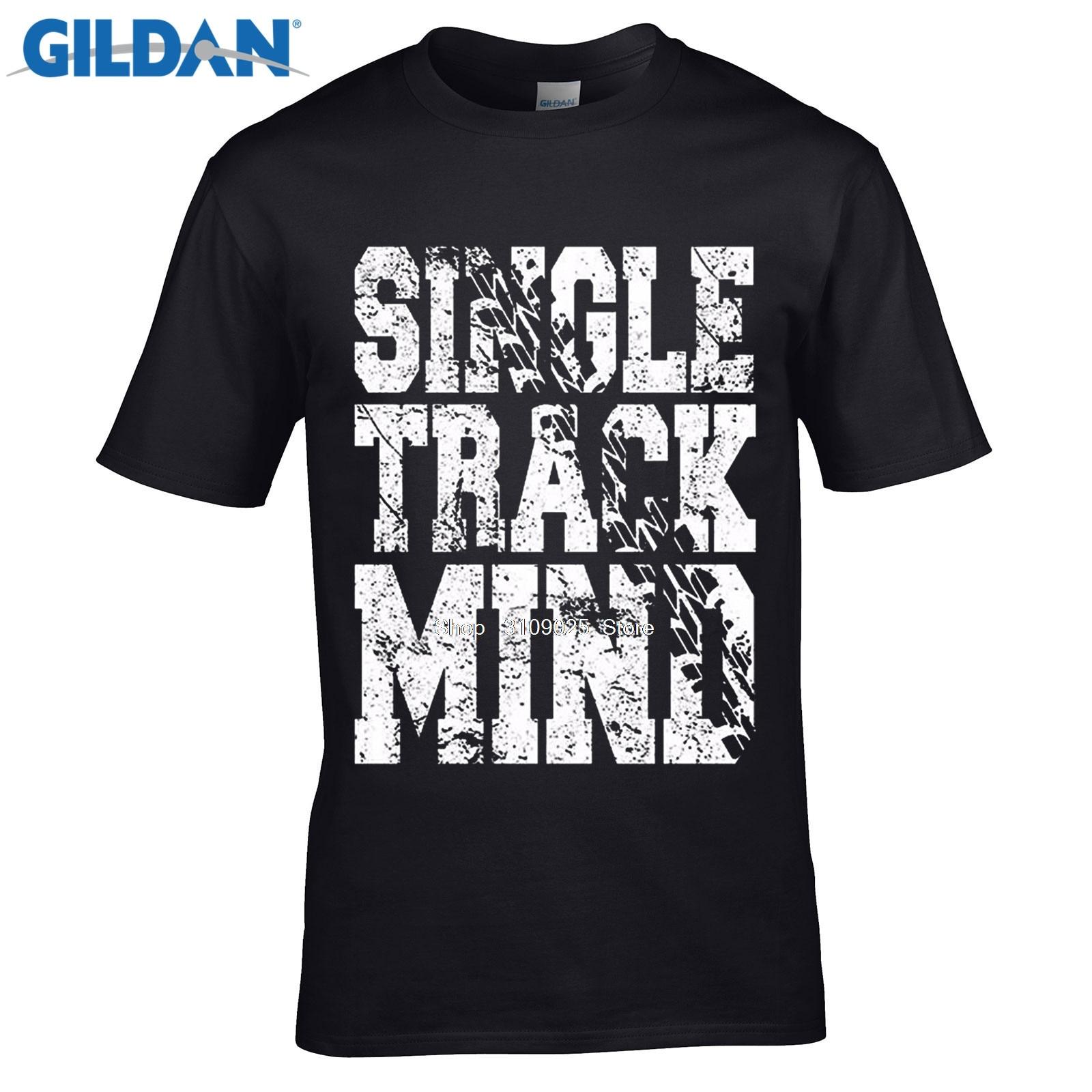 Design t shirt gildan - Gildan Designer T Shirt Summer Fashion Summer Style Fitness Brand Men S Single Track Mind Mountain Biking T Shirto Neck Tshirt