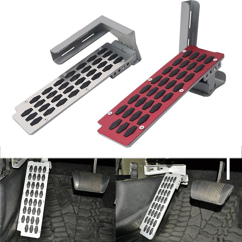 Voiture style réglable gauche repose-pieds pédale frein pédale embrayage gaz pédale Pad antidérapant métal pour Jeep Wrangler JK 2/4-porte/