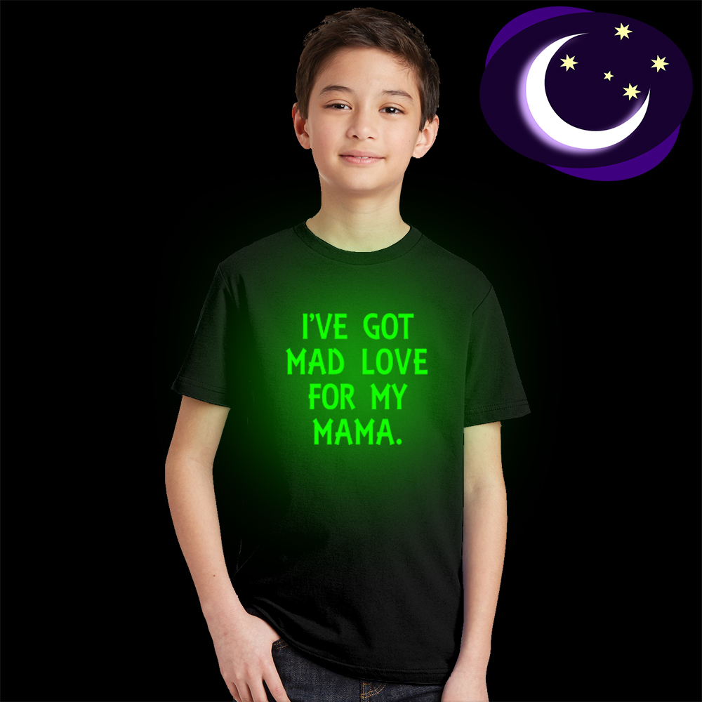 I've Got Mad Love for My Mama Shirt Kids TShirt Boys Girls Funny Quote Glow In Dark Tee Toddler Summer Shirt Mothers Day Gift image