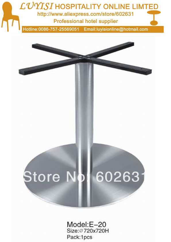 Strong Polished Stainless Steel  Cocktail Table Base