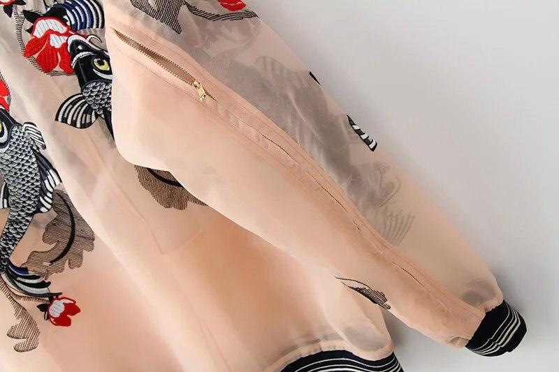 HTB12 fbQpXXXXaEaXXXq6xXFXXXX - Bomber Fish koi Embroidery Jacket