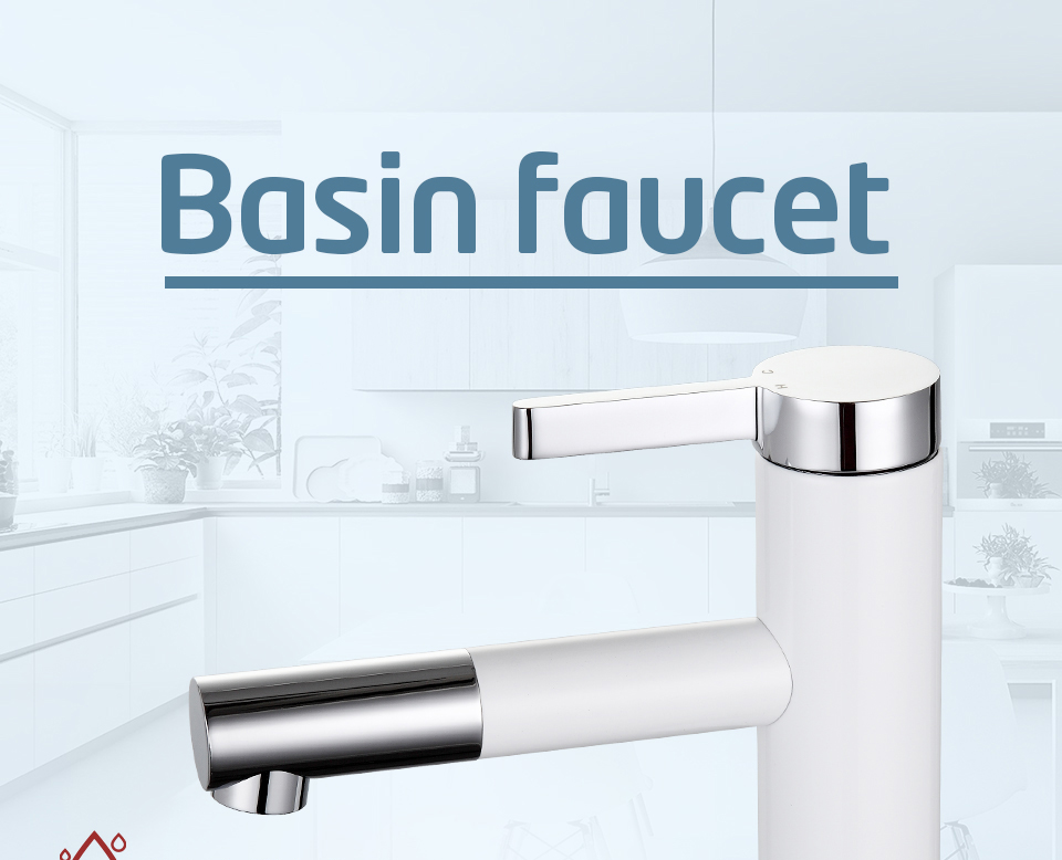 HTB12 fia6zuK1RjSspeq6ziHVXaL Frap New Arrival White Spray Painting bath sink faucet Bathroom cold and hot tap Crane with Aerator 360 Rotating F1052-14/15