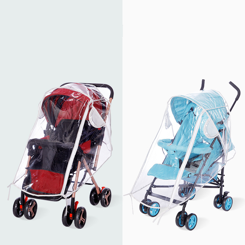 Universal Rain Cover Stroller Protection Waterproof Baby Trolley Stroller Rain Cover Baby Carriage Stroller Accessories