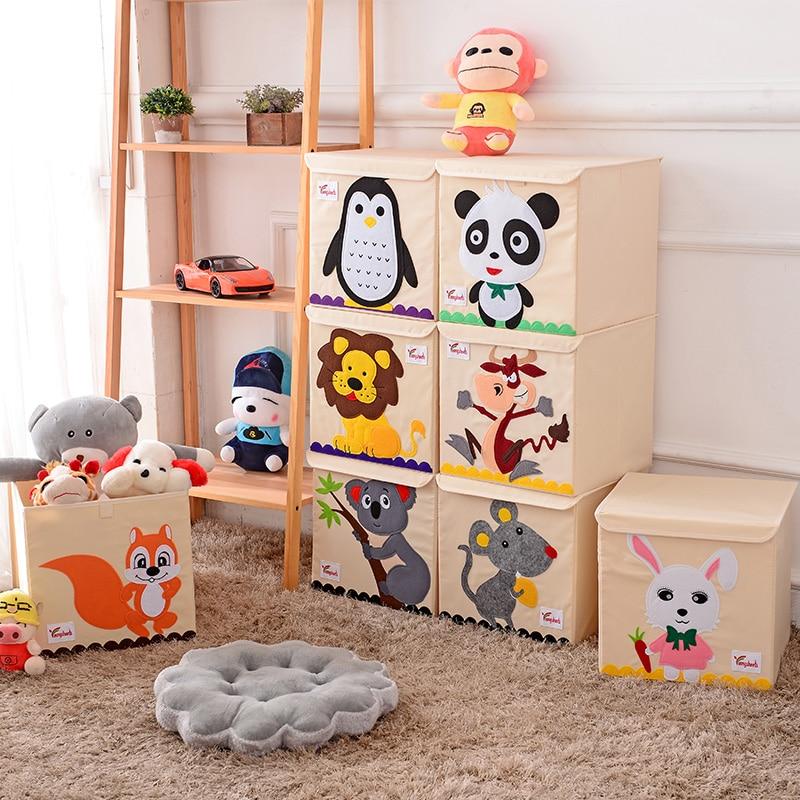 Kids Storage Cube Organizer Toy Box Kids Bedroom Furniture: Hot Childrens Fabric Toy Storage Bins Foldable Oxford